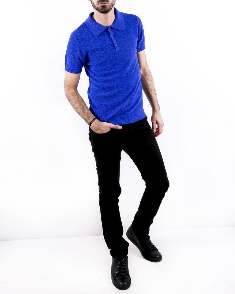 Polo en éponge bleu Woolgroup