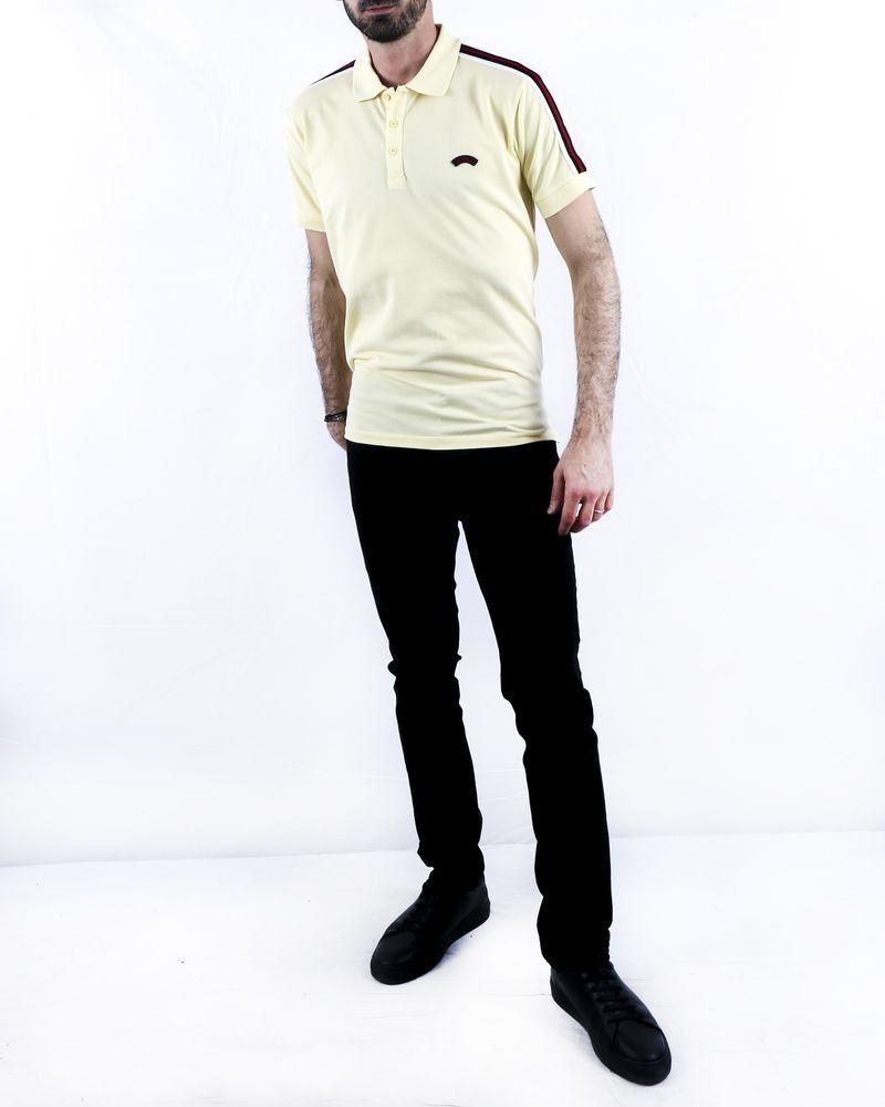 Polo manches courtes jaune Les Copains