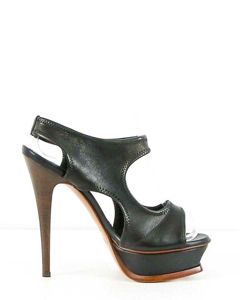 Sandale à talons à plateforme Saint Laurent
