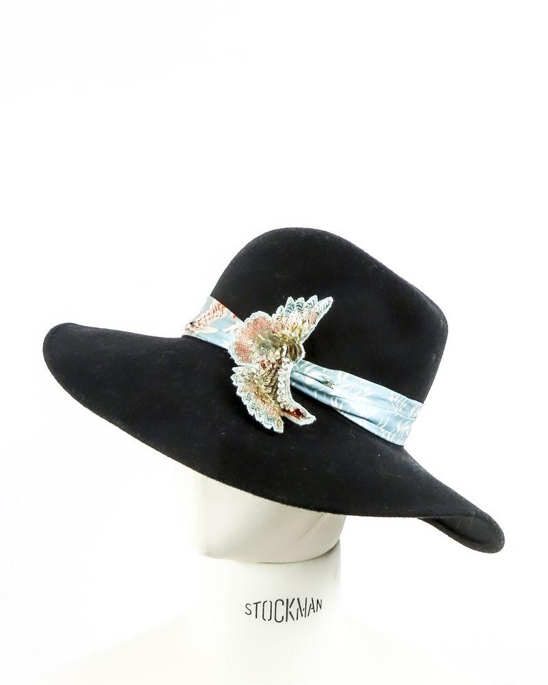 Chapeau en laine noir Elisabetta Franchi