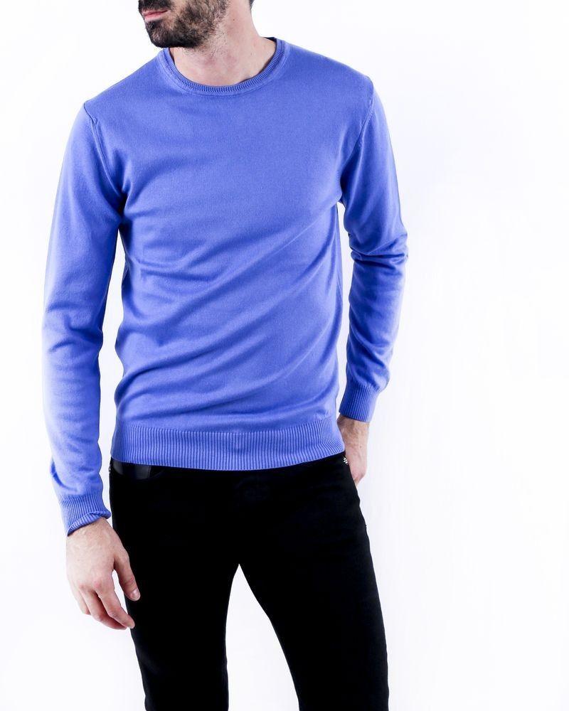 Pull en coton bleu Fiesoli