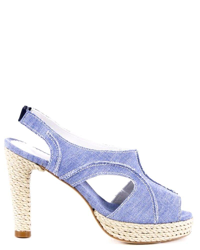 Sandales jean à plateforme Space Simona Corsellini