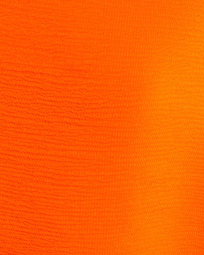 Grand foulard en soie orange Clips