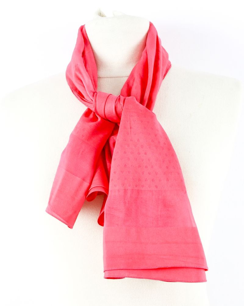 Grand foulard en soie rose Dsquared