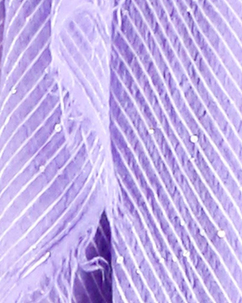 Grand foulard en soie lamé violet à sequins Space Simona Corsellini