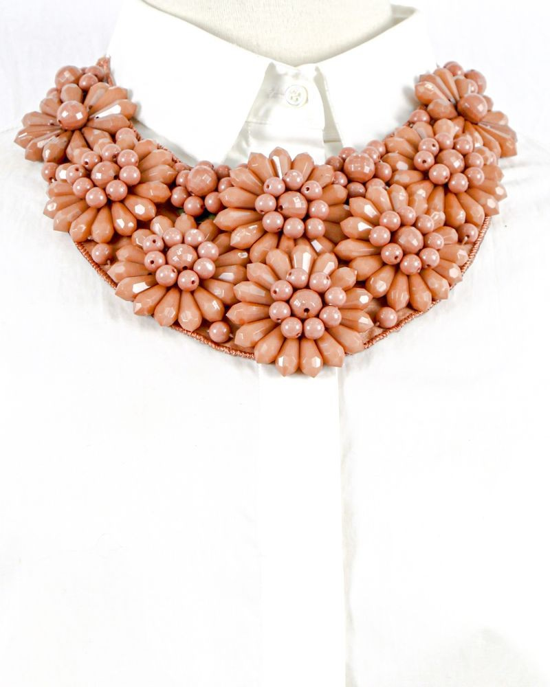 Collier plastron à perles fantaisies rose Liu Jo