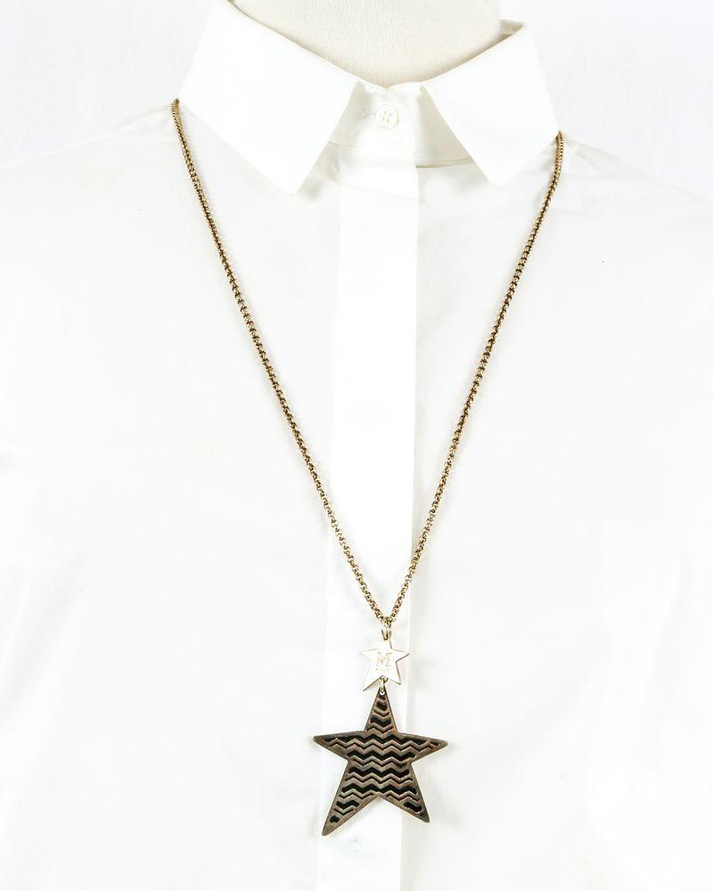 Chaine en laiton dorée à pendentif étoile Missoni