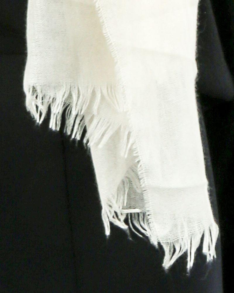Grand foulard en cachemire et soie blanc Dior
