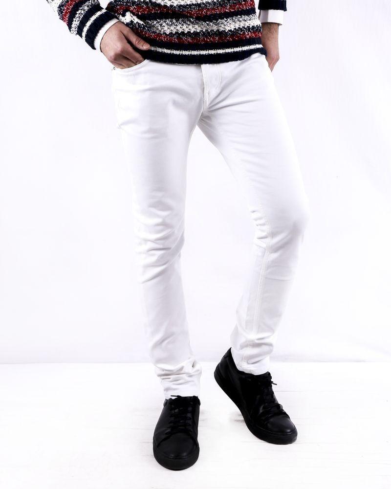 Jean skinny en coton blanc John Richmond