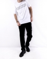 T shirt en coton blanc logo clouté John Richmond