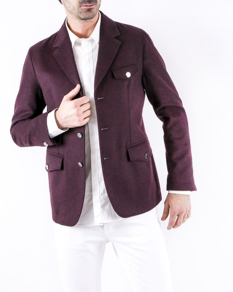Manteau en laine violet Roberto Cavalli