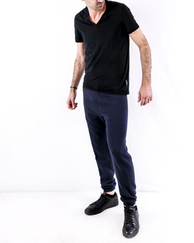 Jogging en coton chiné bleu Golden Goose