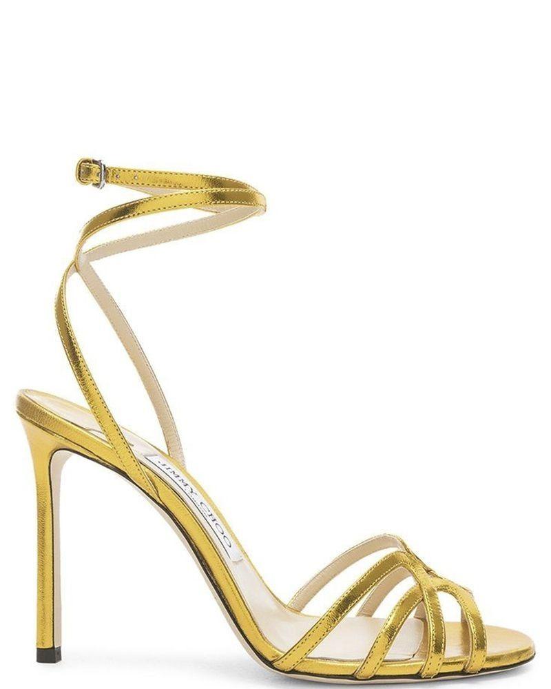 Sandales à talons dorée Jimmy Choo