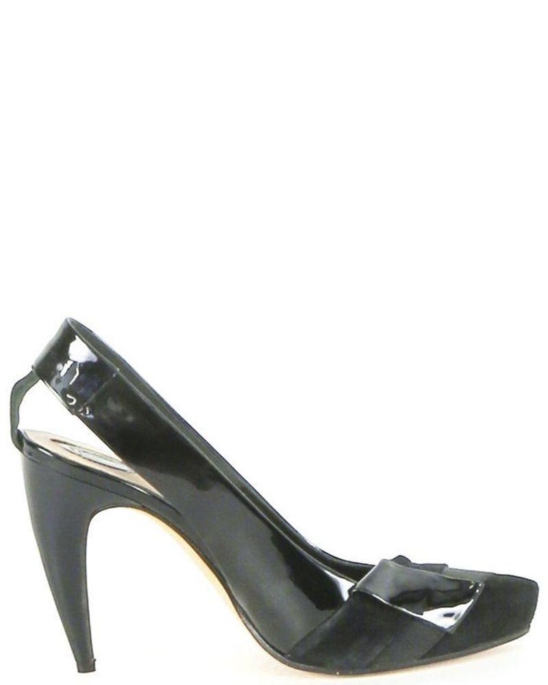 Sandales à talons noires Trussardi