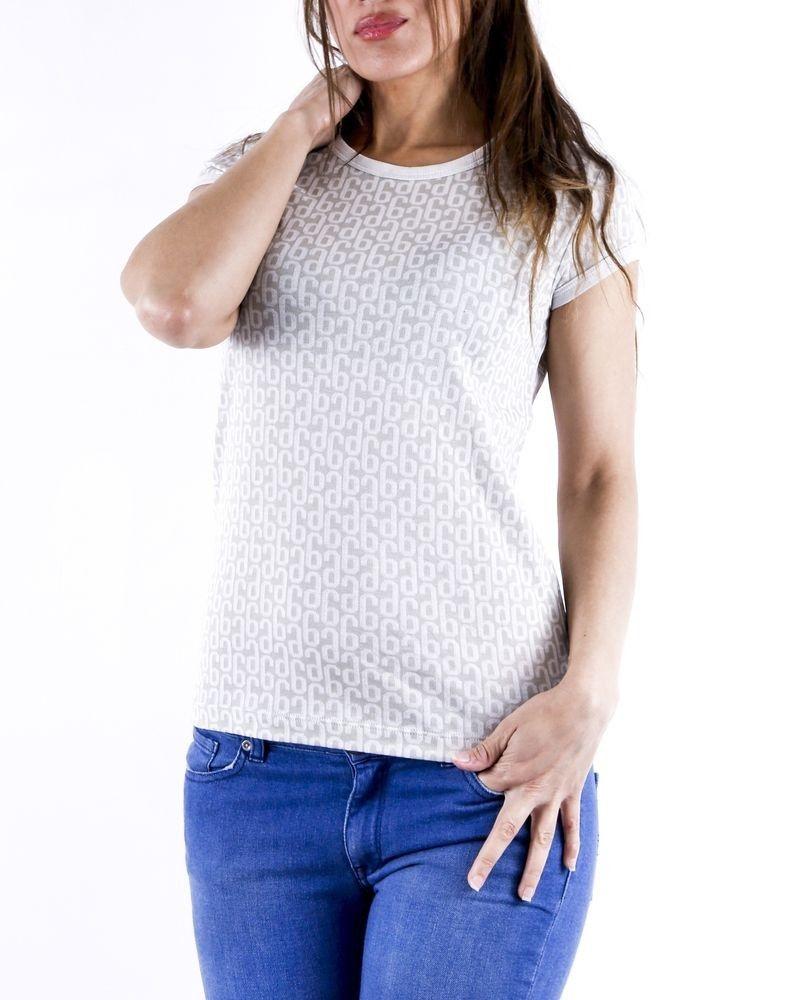 T-shirt en coton gris à logo Maison Margiela
