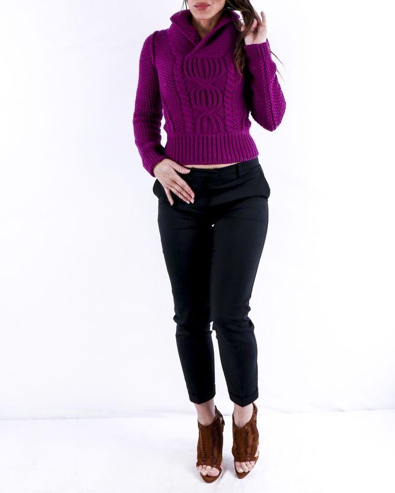 Pull en laine violet tressé Dsquared2