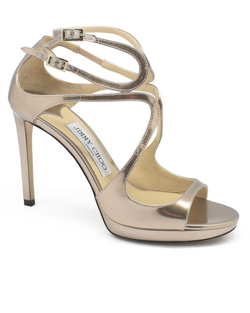 Sandales à talon 12 cm rosée lumineux  Jimmy Choo
