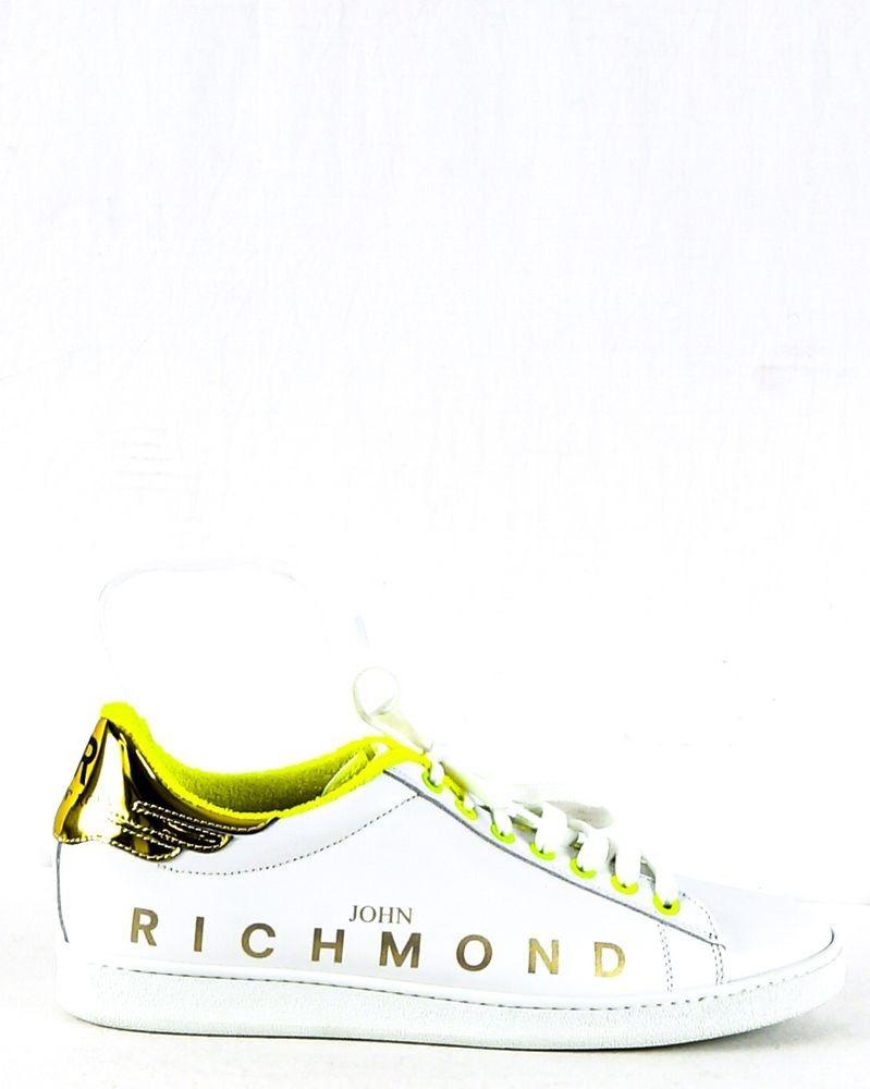 Basket blanche et jaune John Richmond