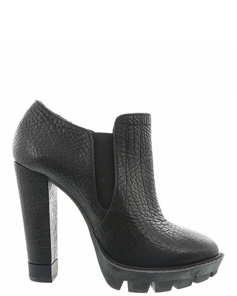 Boots à talons noir Pinko