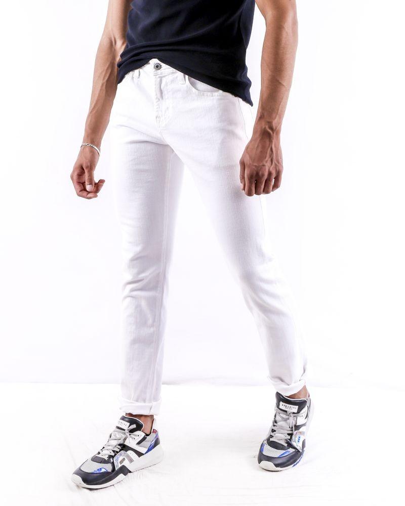 Jean skinny en coton blanc Adriano Goldschmied