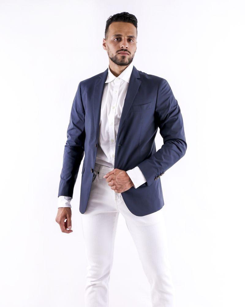 Veste légère en coton bleu Ly Adams