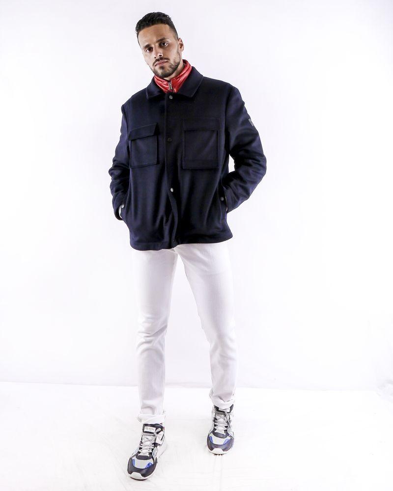 Manteau bleu à gilet combiné Hugo Boss