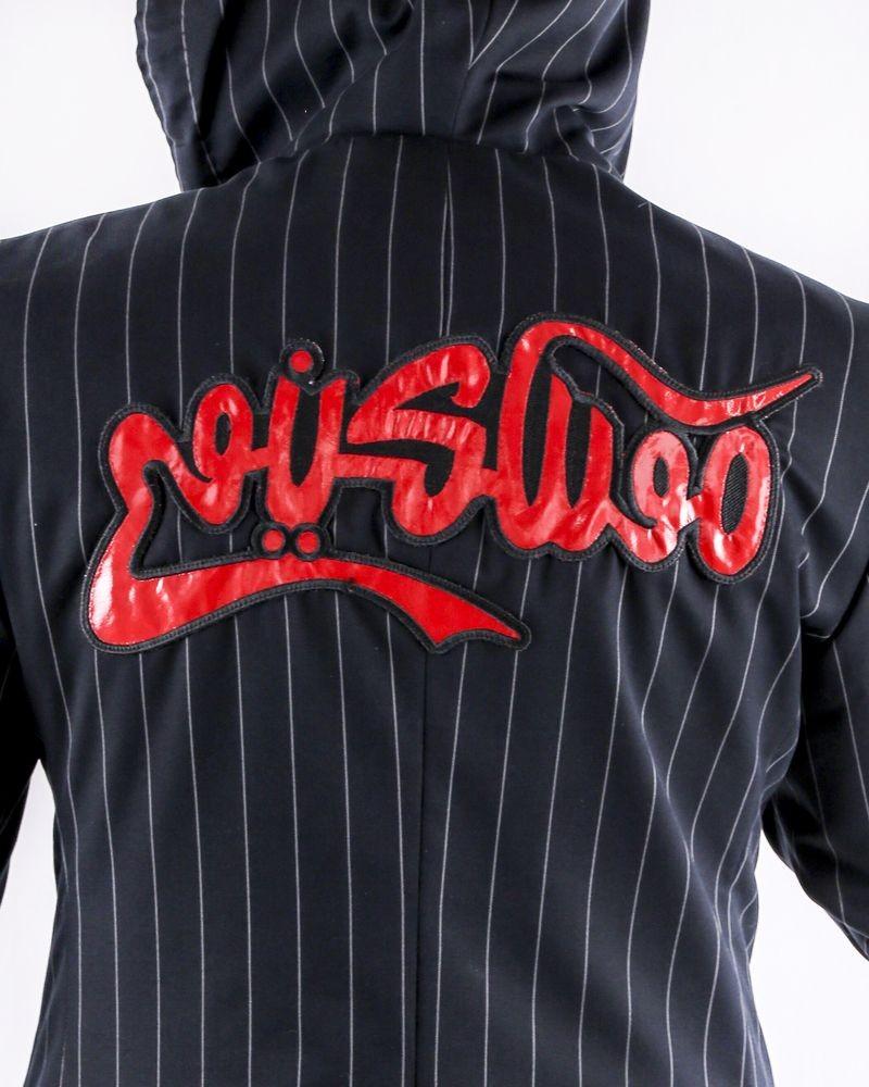 Veste façon sweat noir à fines rayures Moschino