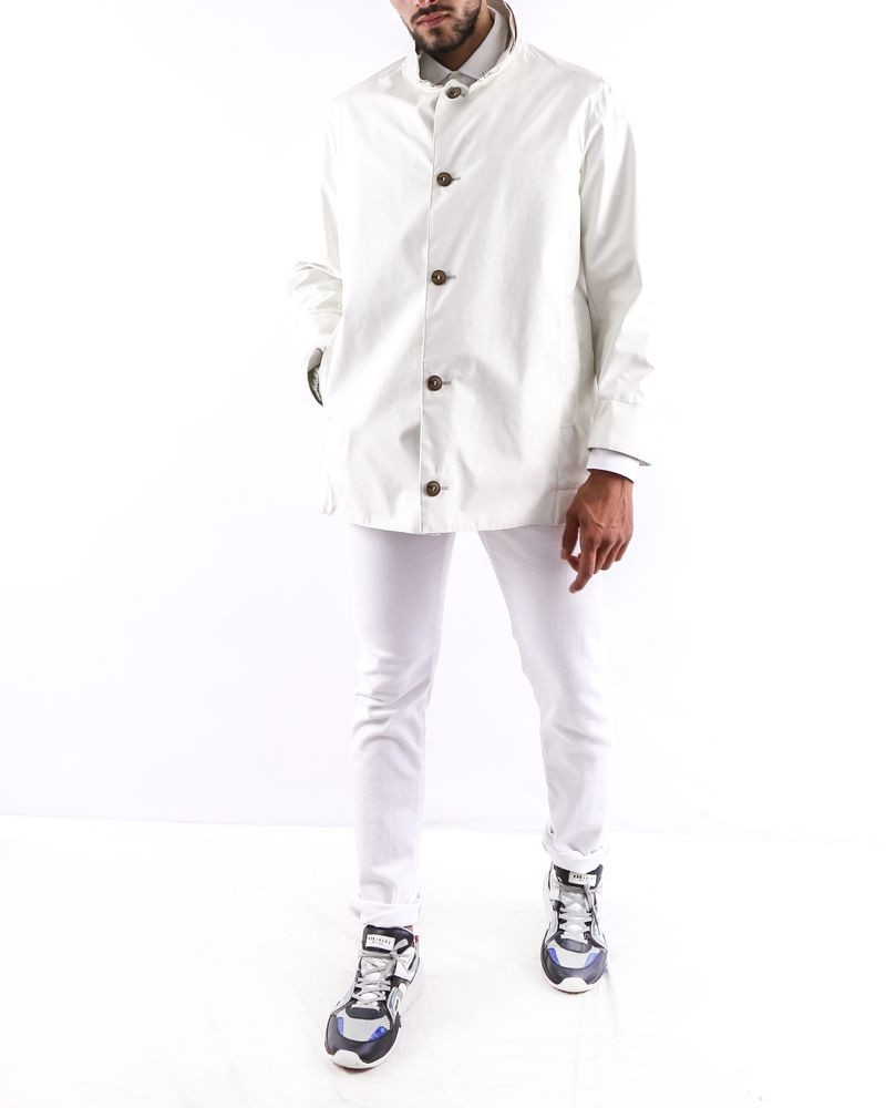 Anorak en coton blanc cassé Armani