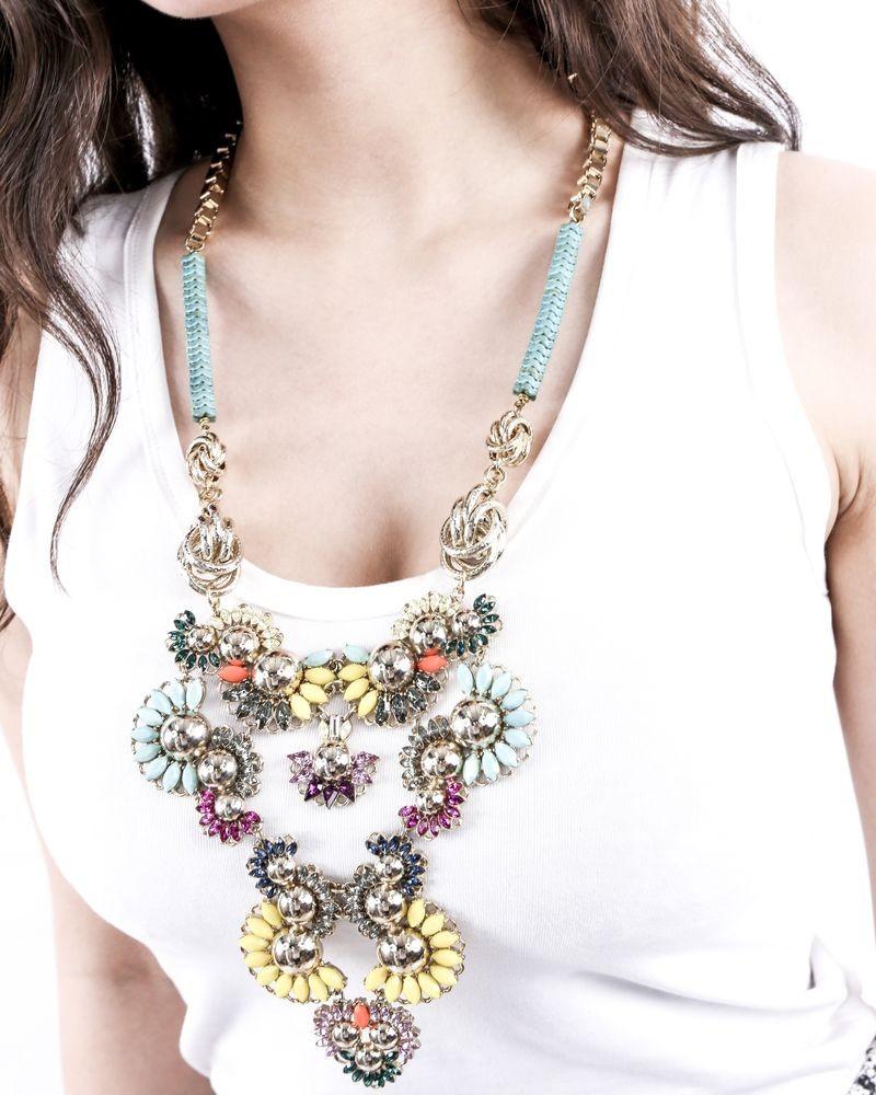 Collier à pierres multicolore Helene Zubeldia