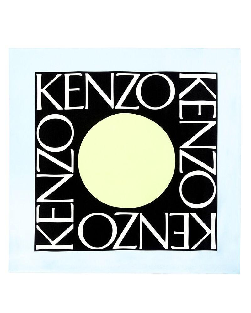 Foulard en soie colorblock Kenzo