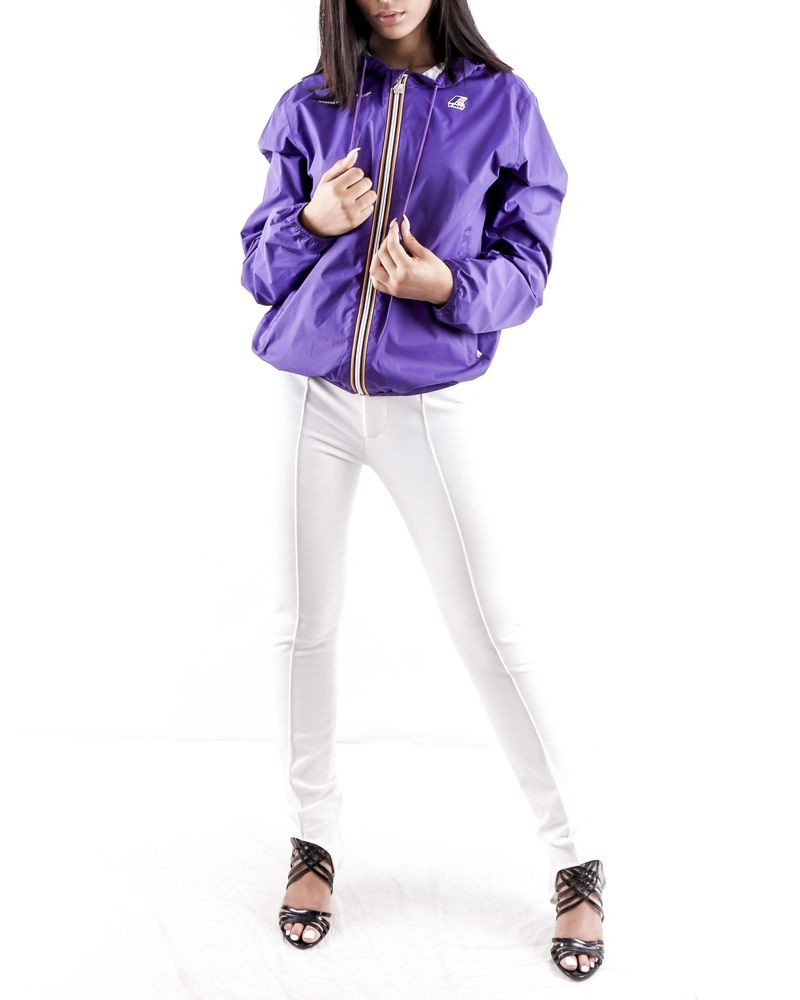 Imperméable violet à zip coloré K-Way