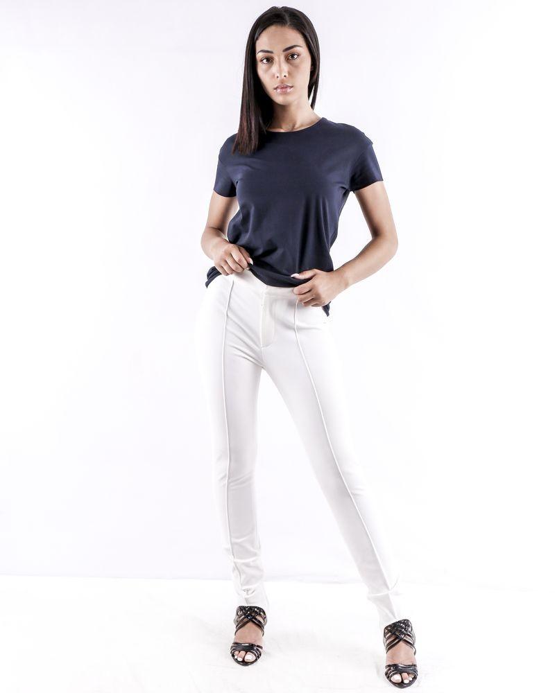 Pantalon fuseau blanc Moncler