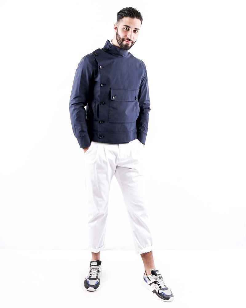 Blouson bleu à poche XL Ly Adams