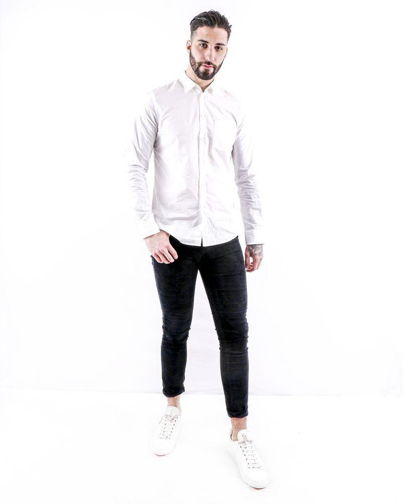 Chemise blanche à poche poitrine Flippa K