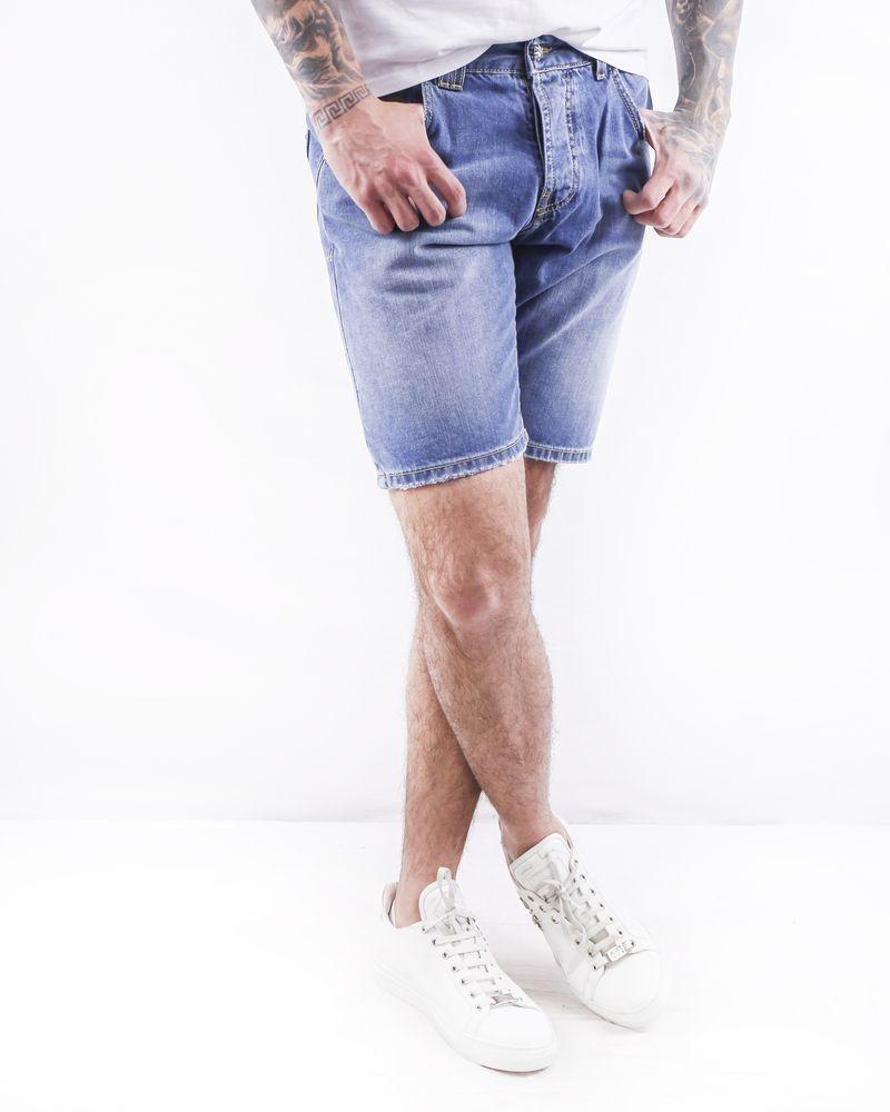 Short en jean bleu John Richmond