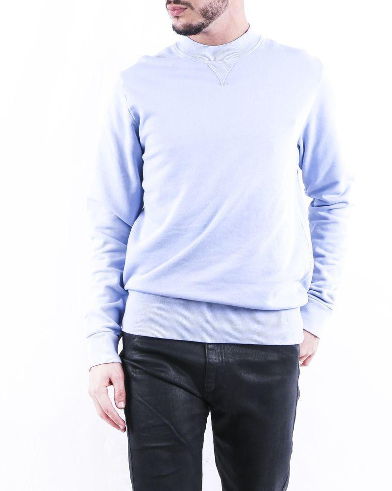 Sweat en coton bleu à broderie fantaisie Ly Adams