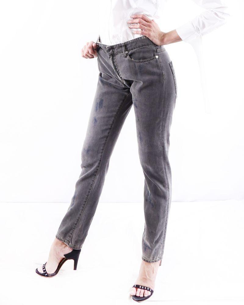 Pantalon regular gris effet tâché Alexander McQueen