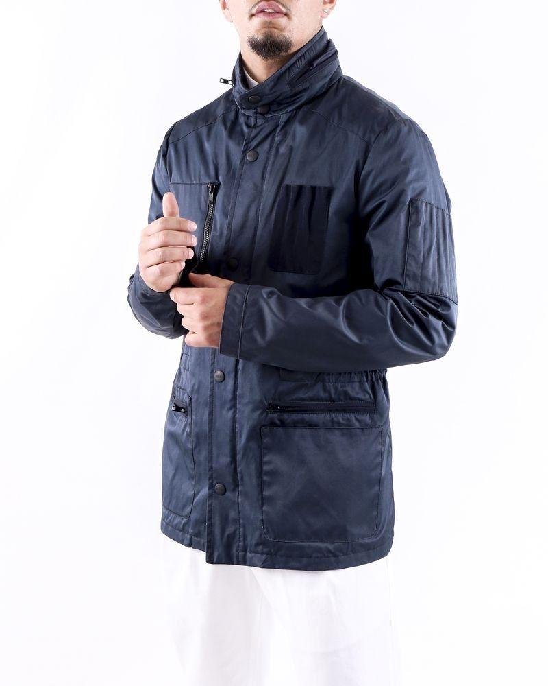 Blouson bleu à poches cargo Moschino