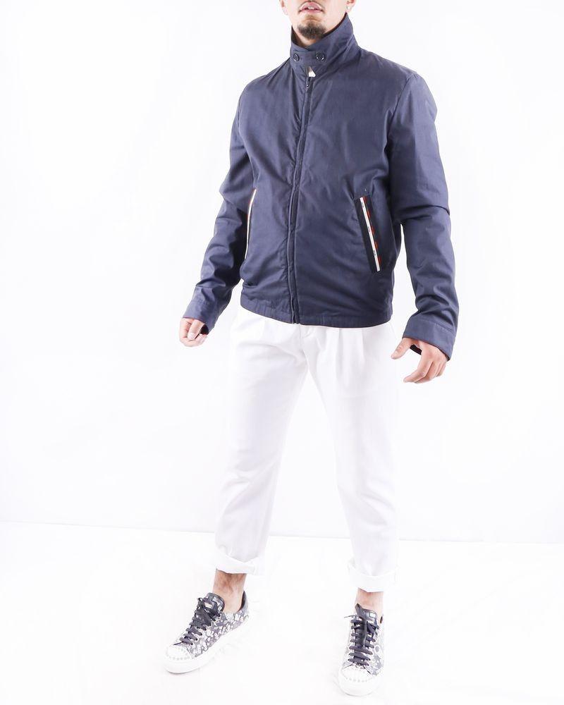 Teddy bleu à poches griffées Moschino