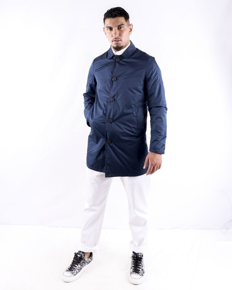 Parka imperméable bleu Swims