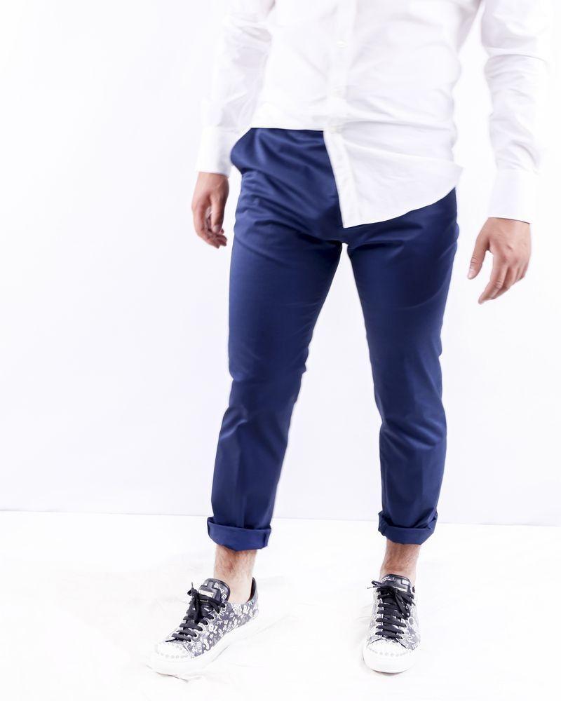 Pantalon tailleur bleu Ly Adams