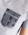 T-Shirt gris à poches poitrine fantaisie Marchand Drapier