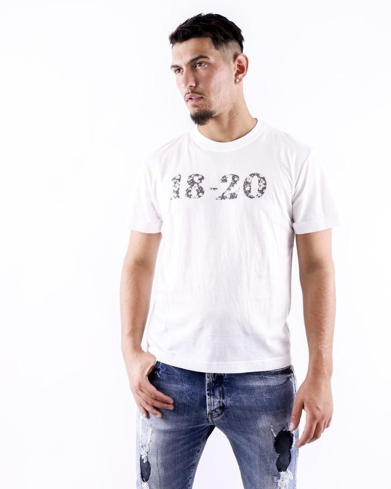 T shirt en coton blanc à logo fleuri Ly Adams