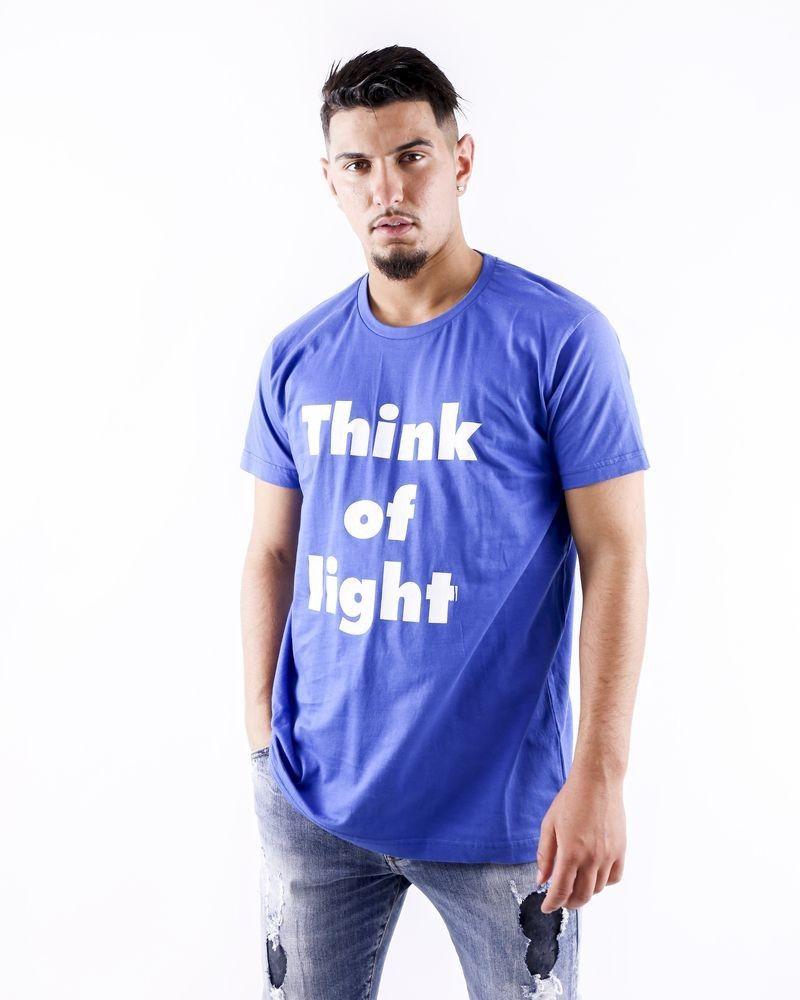 T shirt en coton bleu à inscription Each Other