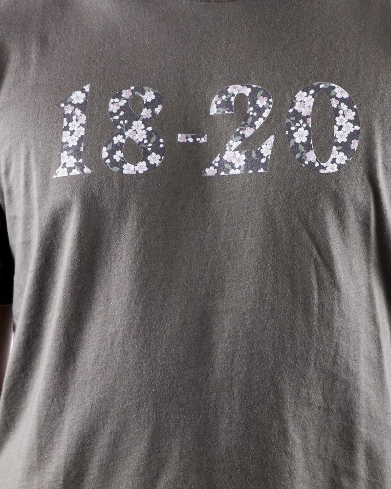 T shirt en coton kaki à logo fleuri Ly Adams