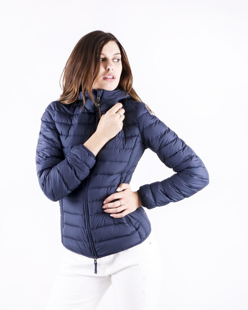 Doudoune technique bleu brillante matelassée Parajumpers