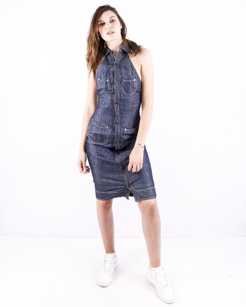 Robe sans manches en jean bleu Dsquared 2