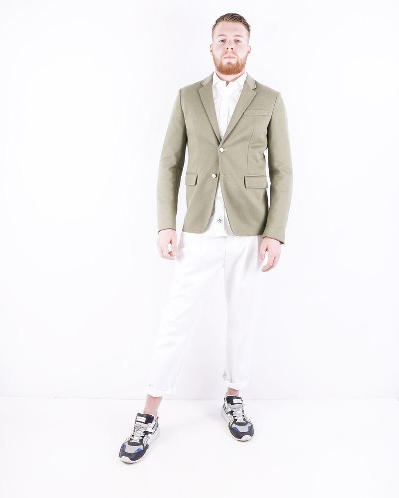 Veste en coton piqué kaki Roberto Cavalli