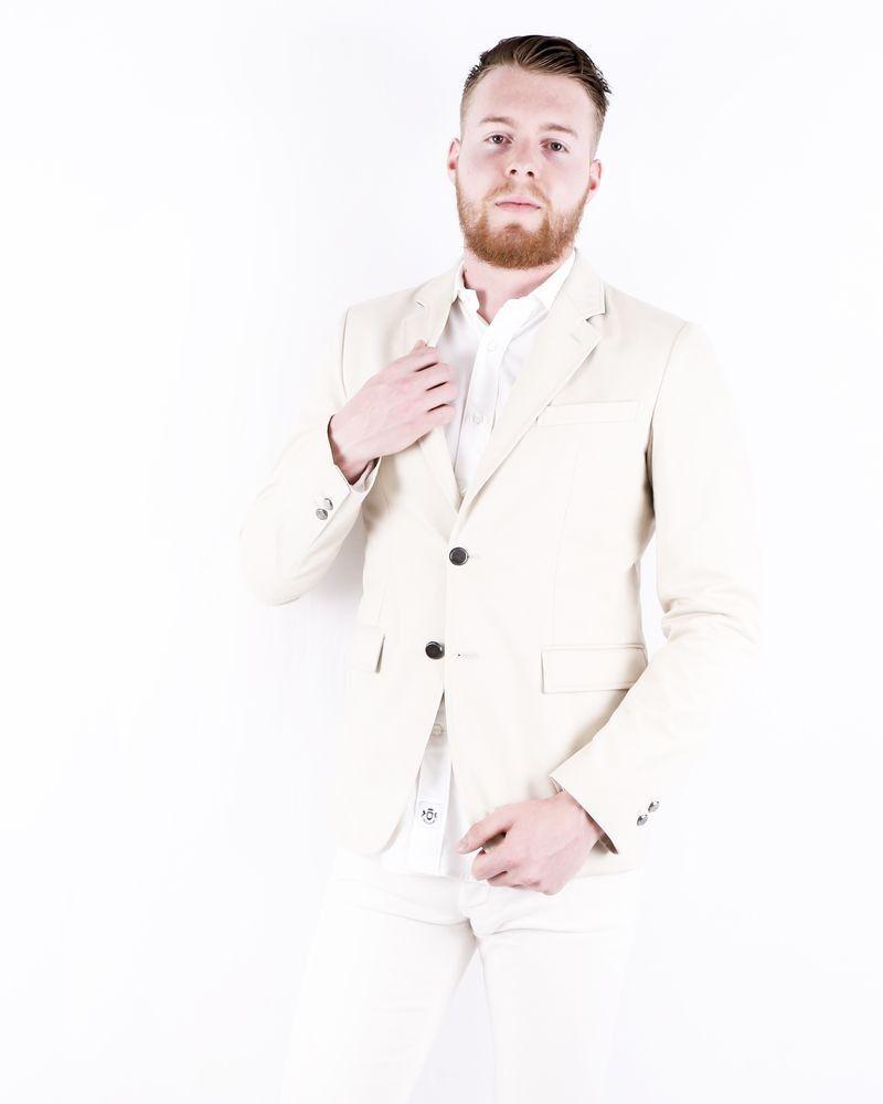 Veste cintré en coton beige Roberto Cavalli