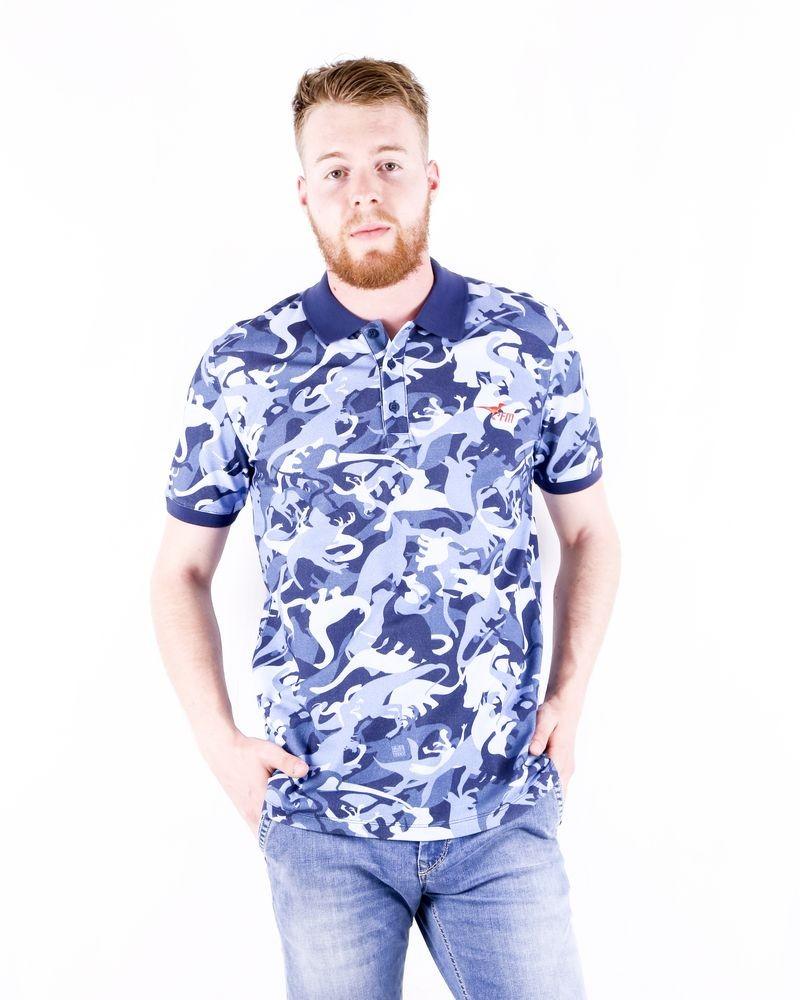 Nouveau $110 Frankie Morello T-shirt en coton blanc dinosaure à Manches Courtes Top S M